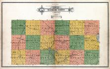 Waushara County Outline Map, Waushara County 1914
